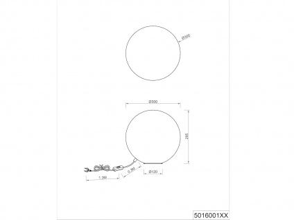 LED Tischleuchte Opalglas Kugellampen für Fensterbank Esszimmer Flur Nachttisch - Vorschau 3