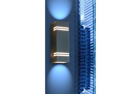 Edelstahl LED Außenwandleuchte H. 25cm IP44 Up & Downlight Fassadenbeleuchtung - Vorschau 5