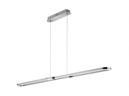 Dimmbare Innenleuchte zum Aufhängen - LED Pendelleuchte aus Metall, Nickel matt