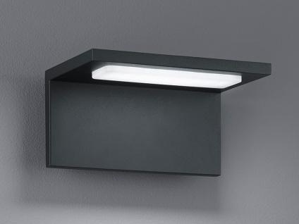 Design LED Außenwandleuchte in Anthrazit - Terrassenbeleuchtung Wand, Außenlampe