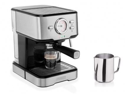 Siebträger Espresso & Kapselmaschine mit Milchaufschäumer für 1 oder 2 Tassen - Vorschau 2