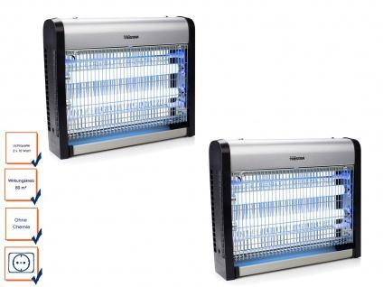 2er Set Insektenvernichter mit UV-Lampe 2 x 10 Watt Hochspannung 2200-2400 Volt