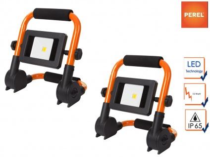 LED Baustrahler klappbar im 2er Set, Fluter Scheinwerfer für die Baustelle außen