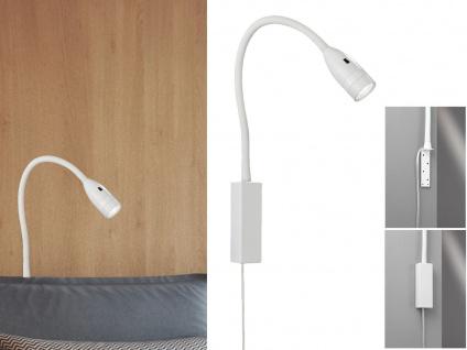 LED Leselampe Weiß dimmbar - Bett Lampe Leuchte fürs Kopfteil Couch Wandmontage