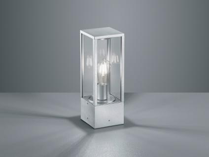Außensockelleuchte in Silber eckige Laterne - Outdoor Stehlampen für den Garten