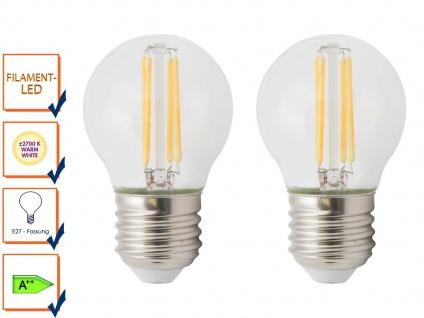 2er-Set FILAMENT-LED Globe E27, 4 Watt 400 Lumen 2700 Kelvin warmweiß