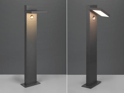 LED Außensockelleuchten Set mit Bewegungsmelder Anthrazit Gartenlampen mit Strom