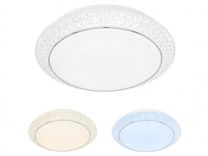 Deckenleuchte Weiß mit Acrylsteinen rund Ø 41cm LED Lichtfarbe wählbar Bürolampe