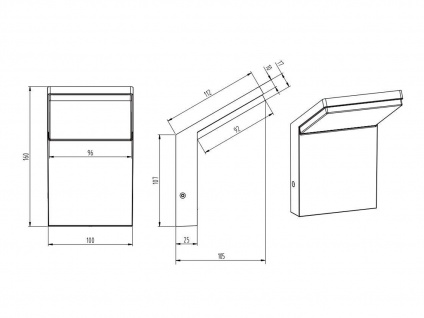 LED Außenwandlampen Anthrazit 2er Set Außenleuchten Hausbeleuchtung Außenbereich - Vorschau 5