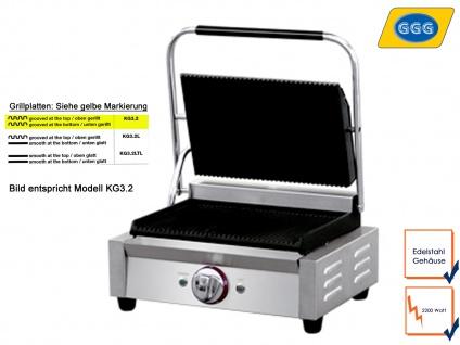 Profi Edelstahl Kontaktgrill 2200 Watt, Gastro Kontaktgrill Elektro Multi Grill