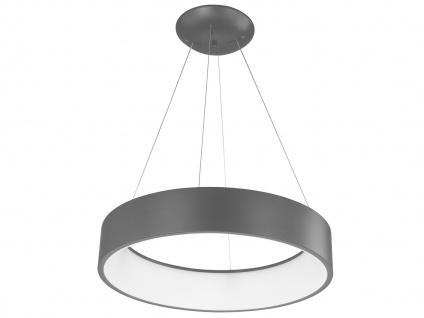 Runde Pendelleuchte Metallschirm grau - Hängeleuchten für den Esstisch Lampen