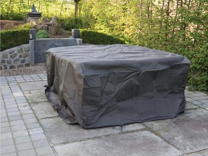 Schutzhülle XL Abdeckung rechteckig 285x180cm für Gartenmöbel, Plane wasserdicht