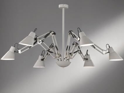 6flammige Retro LED Deckenleuchte Ø120cm, Spots verstellbar, Deckenbeleuchtung