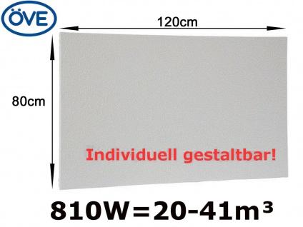 810W Infrarotheizung, 120x80cm, für Räume 20-41m³, bemalbar, IP44