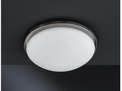Deckenleuchte Combi Nickel matt Opalglas matt Ø 28 cm Honsel-Leuchten