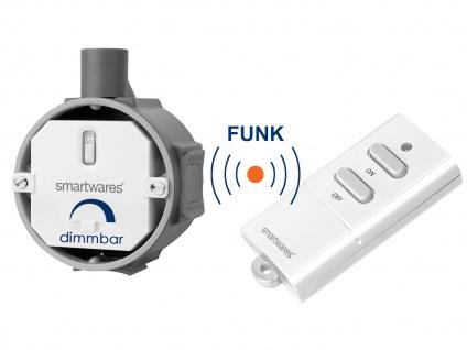 Funk Dimmer Set: Einbaudimmer & Fernbedienung max. 200W - komport für Zuhause