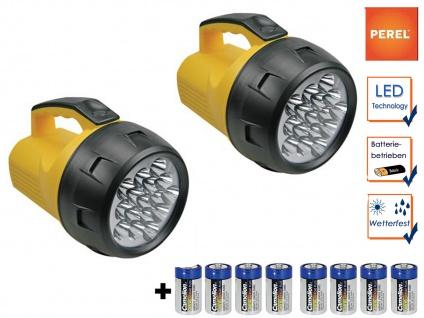 2er Set leistungsstarke LED Handscheinwerfer wetterfeste Outdoor Arbeitsleuchten