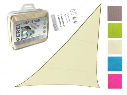 Sonnensegel Dreieckig Creme 5m mit Ösenset für Terrasse Balkon Sonnenschutzsegel