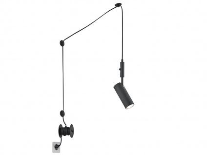 Hängelampe Schwarz matt mit Kabel & Stecker für Steckdose - Spot schwenkbar - Vorschau 2