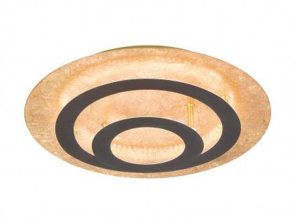 HONSEL LED Luxus Designlampe rostfarbig / blattgoldfarbig Ø 40cm, Deckenleuchte