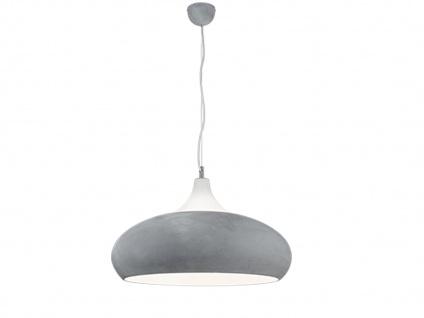 Design LED Hängelampe in BETONFARBEN + weiß aus Metall Pendelleuchte Esszimmer - Vorschau 2