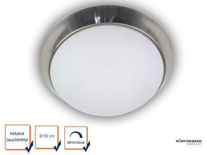 LED Deckenlampe OPALGLAS matt LED Flurleuchte Dielenlampe Ø50cm LED Küchenlampe