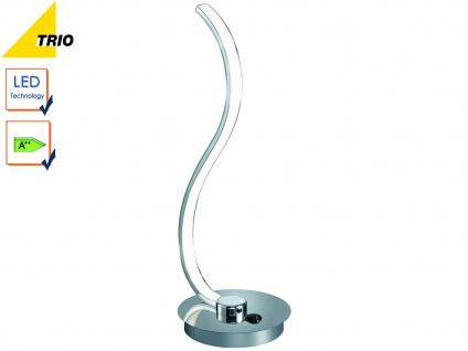 LED Tischleuchte Tischlampe CATOKI Chrom Höhe 35 cm 1x 6W SMD-LED
