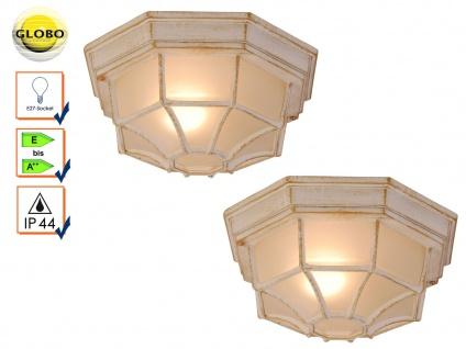 2x Globo Wandlampe Deckenlampe Außenleuchte PERSEUS Beleuchtung Garten Terrasse