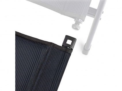 Bequemer Campingstuhl extra breit klappbar mit Beinablage - kleines Packmaß - Vorschau 5