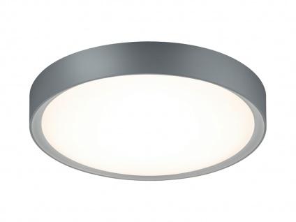 LED Deckenleuchte Badlampe CLARIMO titanfarbig Acryl weiß Ø 33 cm