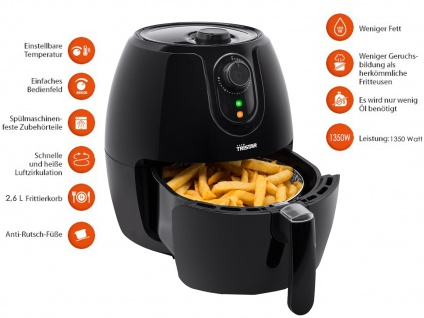Heißluftfritteuse Crispy Fryer, Umluft-Friteuse, Frittieren ohne Öl, 2, 6 Liter