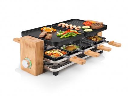 DESIGN Raclette Grill für 2- 8 Personen Elektro Tischgrill Raclet Raklett Gerät
