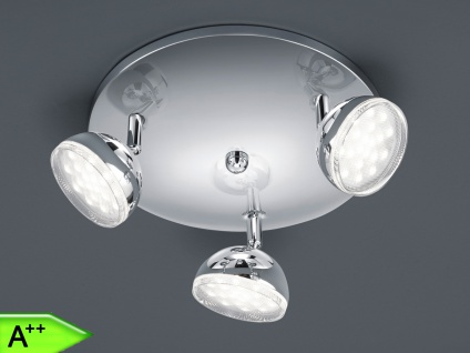 LED-Deckenstrahler, Spots schwenkbar, 3x 3, 8W, Chrom, Trio-Leuchten