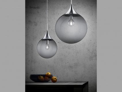 LED Pendelleuchte Rauchglas Kugellampe für über Esstisch Galerie Esszimmer Loft - Vorschau 3