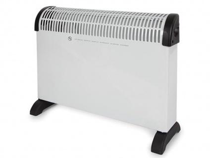 2000W Elektroheizkörper mit Thermostat & Zeitschaltuhr - Konvektor Schnellheizer