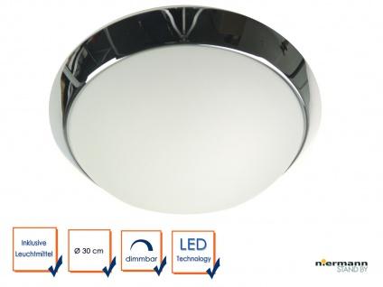 LED Deckenleuchte Küche Flurlampe rund Ø 25cm, Büroleuchte Dielenbeleuchtung