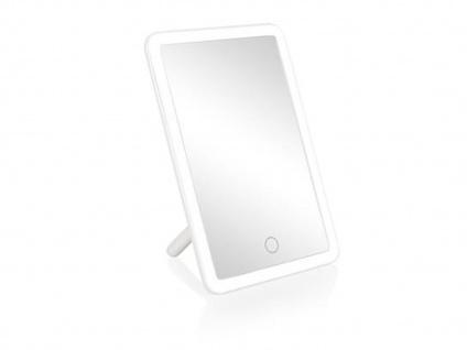 Moderner Kosmetikspiegel mit LED-Lichtrahmen & Touchdimmer Berührungstaste, weiß