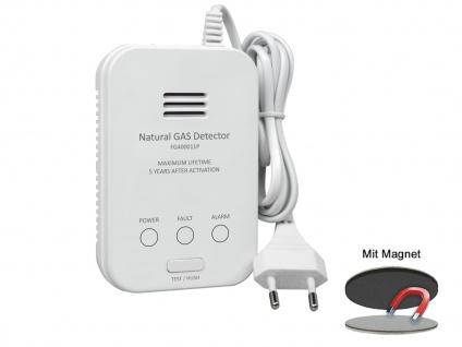 Gasmelder für Methan Gaswarnmelder mit Zuleitung & Magnetmontage 85dB Alarm - Vorschau 2