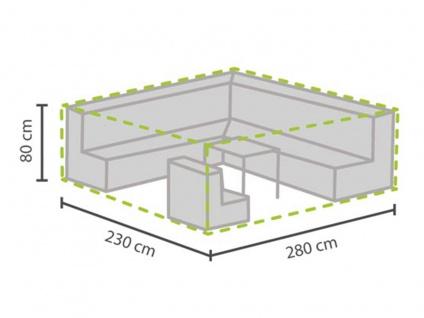 Schutzhülle Abdeckung XL für Loungemöbel, 280x230cm, Abdeckplane Lounge Garten