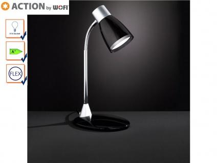 Schreibtischlampe flexibel, schwarz, inkl. LED, Action by Wofi