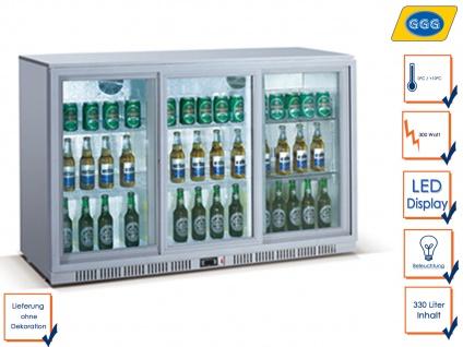 Gastro Getränkekühlschrank Glastür 330L Flaschenkühlschrank Profi 330 Liter