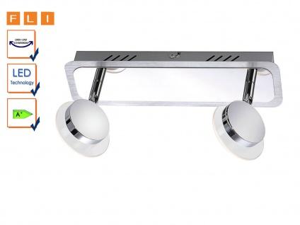 2-fl LED-Deckenleuchte, Spots schwenkbar, Acryl satiniert, FLI-Leuchten