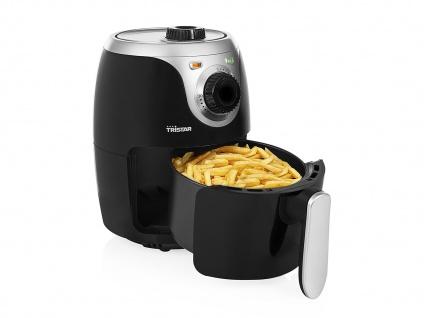 Mini Heißluftfritteuse Crispy Fryer ohne Öl 2 Liter 1000 Watt Leistung Tristar - Vorschau 2