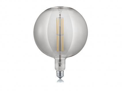 Filament LED Leuchtmittel Globe E27 Sockel dimmbar 8 Watt 260 Lumen rauchfarbig