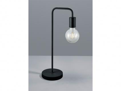 Vintage Tischleuchte 51cm hoch aus Metall in schwarz matt mit FILAMENT LED E27