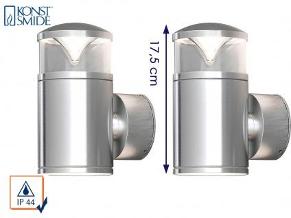 2Stk Konstsmide Energiespar Außenwandleuchte MONZA, Wandlampe Uplight Downlight - Vorschau 1