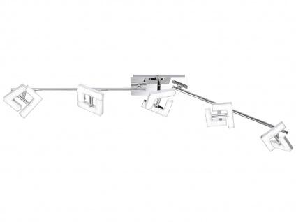LED Deckenleuchte Strahler schwenkbar 5x 4W Chrom poliert Beleuchtung Wohnzimmer