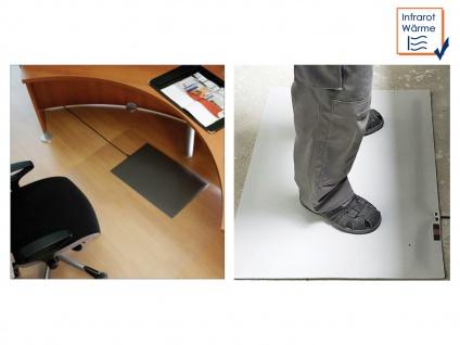 Infrarot Bodenheizmatte Heizmatte grau für Innen und Außen + Regler Fußheizmatte