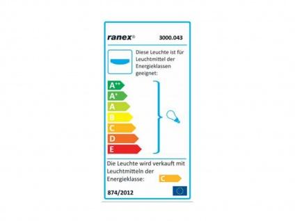 Bad-/Flur-Deckenleuchte Stahl/frosted glass, IP44, inkl. G9 LM RANEX - Vorschau 2