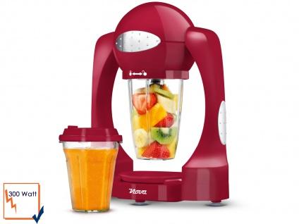 Smoothie Maker inklusive 2 x 0, 6 L Mixbehälter Farbe Rot Turbofunktion 300 Watt